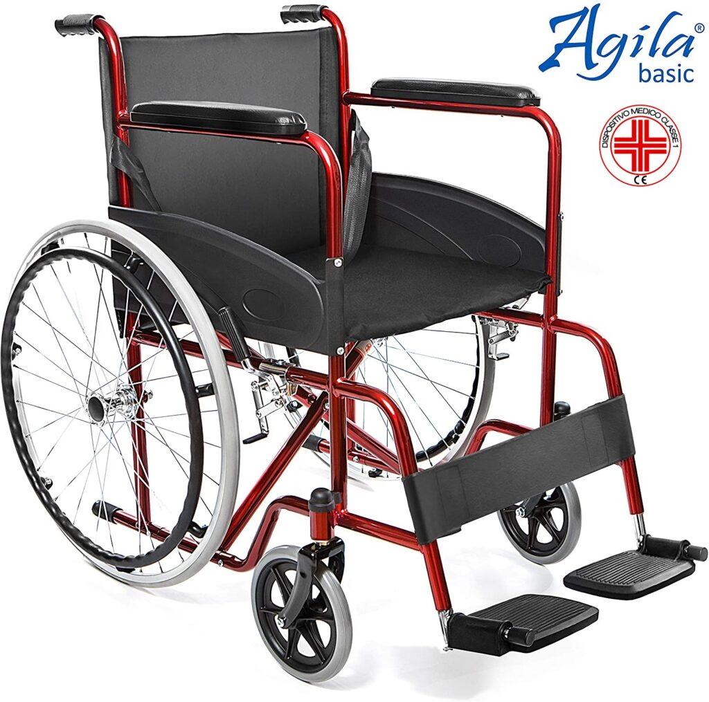 aiesi agila basic sedia a rotella pieghevole